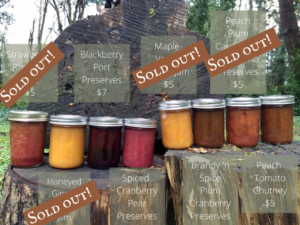 Photo of available preserves